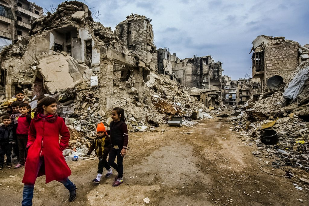 The defeat of Islamic State didn't end the ongoing civil war in Syria. But, along with the lifting of the siege in Aleppo, it did mark a significant point in the conflict. In October, Islamic State pulled out from cities in the east of the country after it lost the oil-rich provincial capital of Deir ez-Zor to the Syrian army, and its de facto capital Raqqa to Kurdish fighters backed by the US. Islamic State won't simply disappear. Experts say it will likely go underground and turn to guerrilla insurgency using sleeper cells and bombings. But its dark aims for Syria have been comprehensively derailed, and that's something to celebrate. ? Mark Condren / The Irish Independent / eyevine