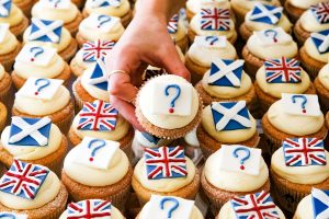 REVIEW OF THE YEAR PICS 2014 File photo dated 04/03/14 of Edinburgh bakery Cuckoo's launching their own referendum opinion poll survey, where you can buy your Yes, No or Undecided cupcake.